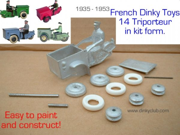 A DINKY TOYS COPY MODEL 14 TRIPORTEUR WITH METAL WHEELS [ IN KIT FORM ]